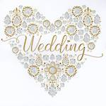 Wedding Card: Jewelled Heart