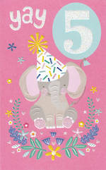 Age Card 5: Girl Yay Elephant