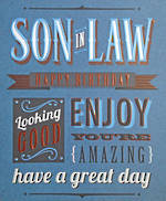 In Laws Birthday Card: Talk The Type Son In Law