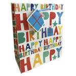 Gift Bag: Medium - General Birthday Text Colour