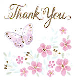 Mini Card: Thank You Butterfly