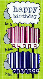 Mini Card: Barcode Sheep