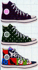Mini Card: Multi Colored Shoes