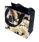 Gift Bag: Small - General Japan Flowers Black