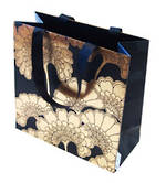 Gift Bag: Medium - General Japan Flowers Black