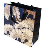 Gift Bag: Large - General Japan Flowers Black