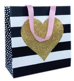 Gift Bag: Small - Kiss Gold Heart