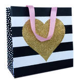 Gift Bag: Large - Kiss Gold Heart