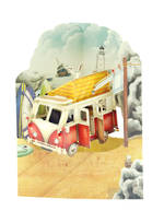 Santoro Swing Cards: Campervan
