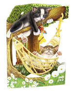 Santoro Swing Cards: Cat In Hammock