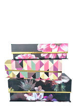 Night Floral: Set of 3 Cigar Tab Boxes
