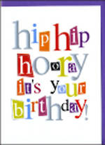 Birthday Card: A Word Or Two Hip Hip Hooray