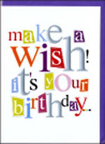 Birthday Card: A Word Or Two Make A Wish