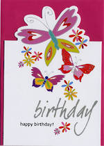 Female Birthday Card: Sparklers Butterfly
