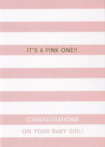 Baby Card Girl: Ink Its A Pink One