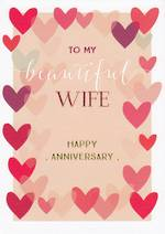 Anniversary Card Wife: Ink Beautiful