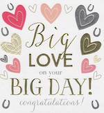 Wedding Card: Peach Big Love On Big Day