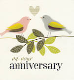 Anniversary Card Your: Peach Love Birds
