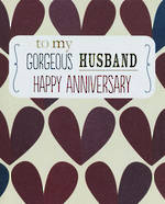Anniversary Card Husband: Rosebud Gorgeous