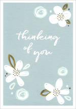 Sympathy Card: Thinking Of You Wish Floral