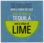 Lettered: Salt Tequila Lime