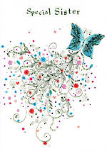 Sister Birthday Card: Special Butterfly