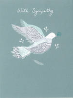 Sympathy Card: Dove On Green