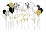Woodmansterne Landscape: Black & Gold Balloons