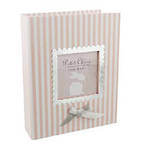 Petit Cheri Baby Photo Album Pink Stripes