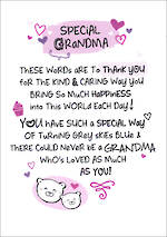 Grandmother Birthday Card: Inspired Words